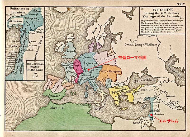 1142世紀頃のローマの地図