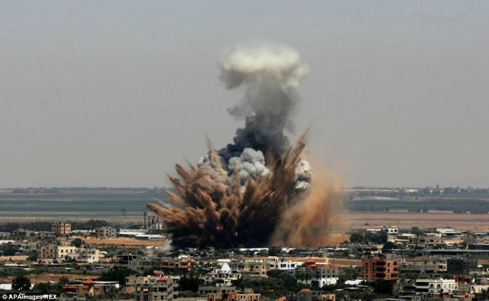 ヨルダン川西岸地区の空爆